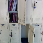 Sophomore locker-partners Diego Rodriguez and Gavin Monges decided to take a nearby empty locker so they could keep their books and clothes separate after spending the first half of their year struggling to fit everything in their locker.