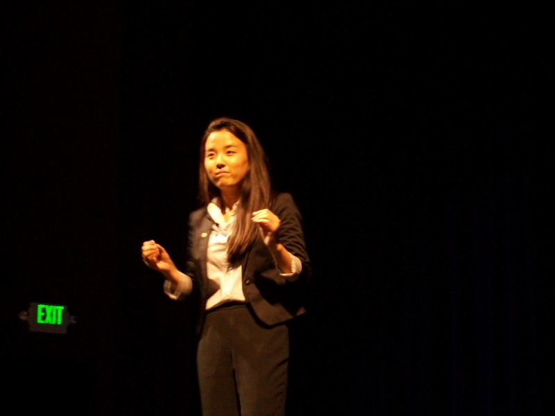 "Junior Yoojin Shin presents a dramatic interpretation of ""368 Friends."" This performance helped Shin become a semifinalist in the California High School Speech Association State Qualification Tournament."