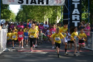Kids dashed the one mile at the 'Run Like a Mother' 5k. This is the first year that the run occured in Davis.