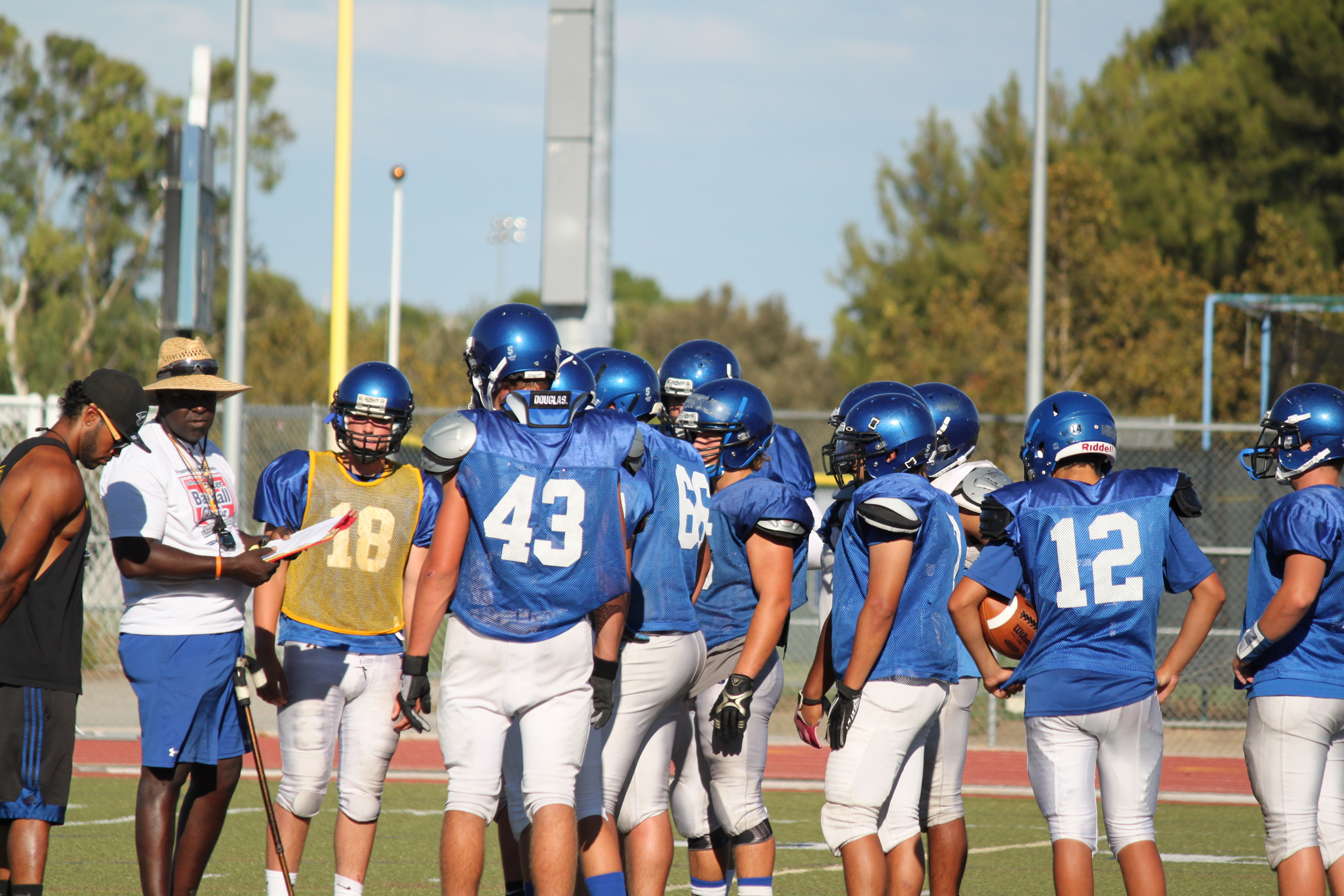 Varsity practiced on Aug. 30 and have been practicing for their big homecoming game on Oct. 11.