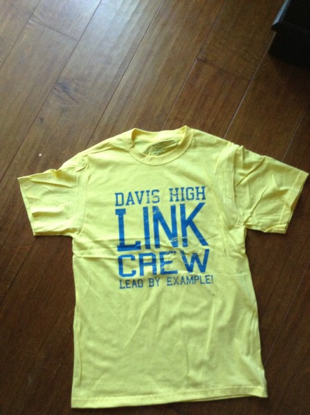 LINK crew leaders will wear their yellow shirts on the first day of school, Wednesday, Aug 28 and be able to help sophomores find their way around campus.