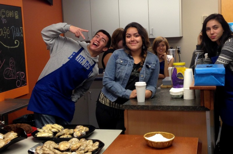 Before school starts on Oct. 23, the ROP Food Service Class is busy getting ready to serve students in Café Diablo.