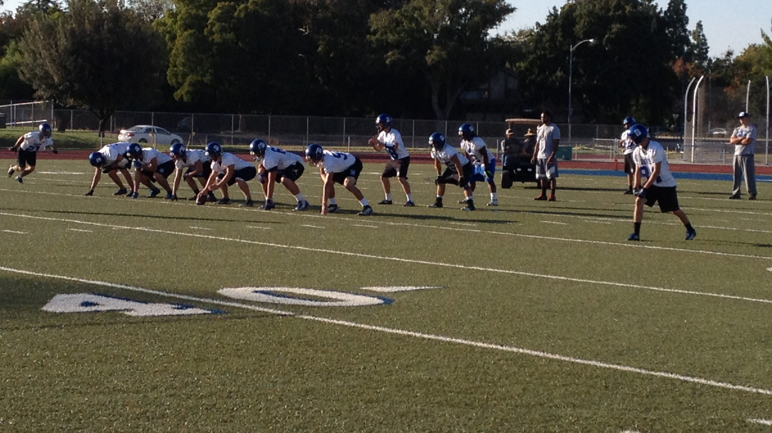 Blue Devil football prepares for the Homecoming game against Monterey Trail on Oct. 11