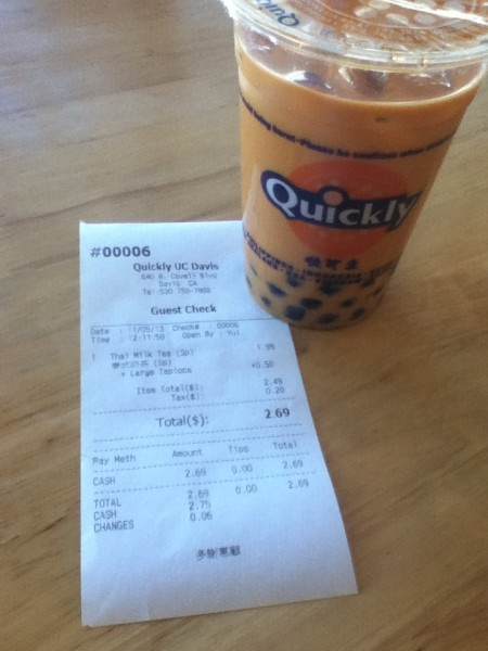 Although a regular size Thai Milk Tea with tapioca costs only $2.69, there is a hidden cost-- the large quantity of sugar in Taiwanese tea drinks. (Photo Illustration)