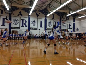 Davis High's JV volleyball team battles Elk Grove in its season-ending loss on Nov. 5.