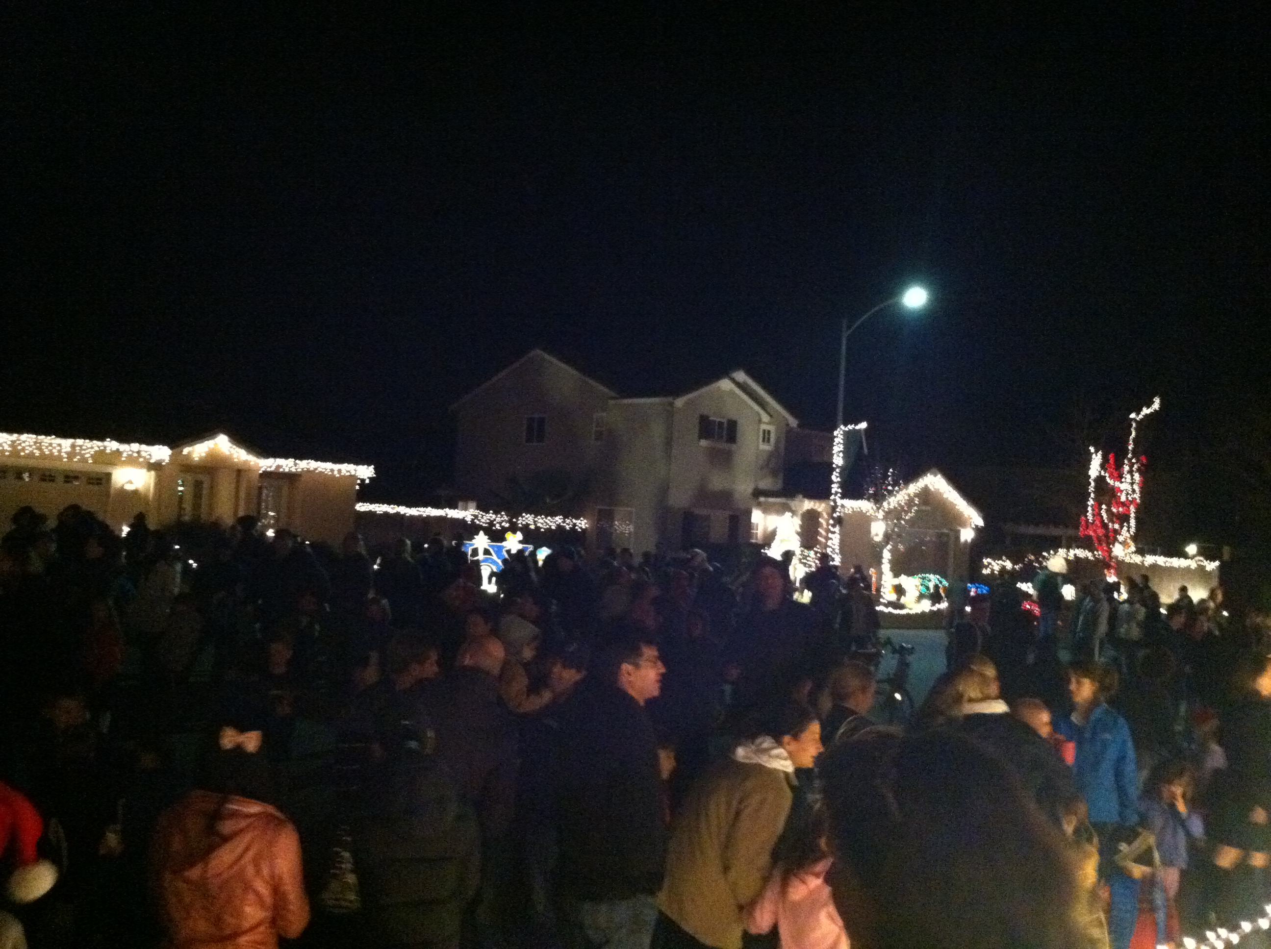 Candy Cane Court attracts hundreds of people each year. (Courtesy photo by Kristy Powell)