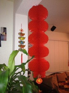 Juniors Linda Su and Wang have Chinese decorations, such as lanterns, in their home all year round. Courtesy photo by Linda Su.