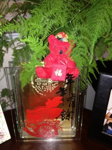 Su has good luck decorations to honor Chinese tradition. Courtesy photo by Linda Su.