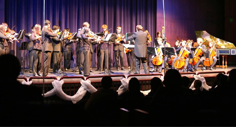 The Baroque Ensemble performs in their winter concert December 2013.