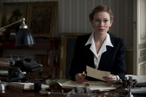 Jeu De Paume Claire's office - Paris, int. Claire (CATE BLANCHETT) listens in to a conversation from her desk in Columbia Pictures' THE MONUMENTS MEN.