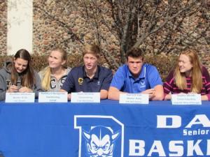 Left to right: Heather Johnson, Kathleen Benjamin, Matt Whittle, Garrett Fisk, and Sophie Meads.