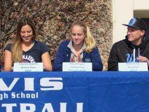Left to right: Lauren Owens, Alex Rieger, and Matt Trask.