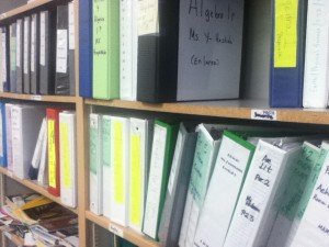 Study Skills aides are able to help the students by keeping binders full of classwork and homework from each of their classes. This keeps the students organized and on track. Photo by Lanna Kozlowski.