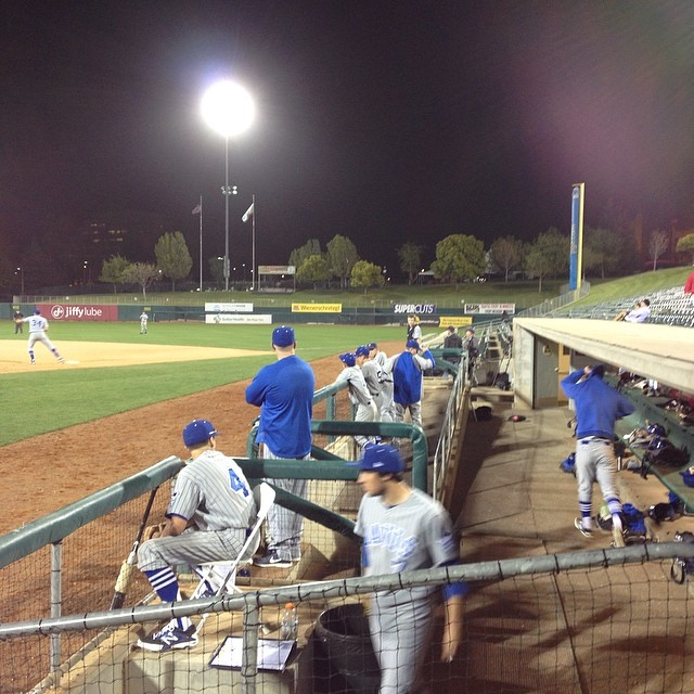 The Blue Devils watch from the dugout during an intense game against Jesuit. Photo by Kyle Clancy.