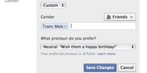 OPED: Facebook's new gender option pleases certain people