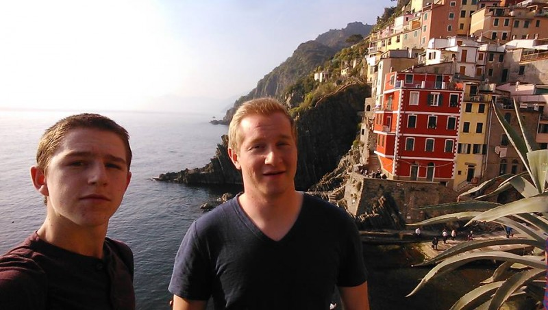 Mark (left) and Carson (right) enjoying the view in Cinque Terra, Italy.