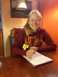 Meads started running in 7th grade and now, as a senior, is committed to running at Loyola, photo illustration