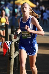 Sophie meads as a sophomore, being the third fastest female runner at DHS of all time. Courtesy photo from Meads.