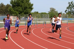 Men's track team wins section title