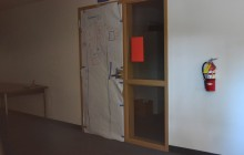Photography room, A-7, already got a head start on door decorating. Photo by Rifa Akanda.