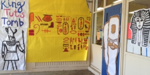 HOMECOMING: The door decorating competition is on