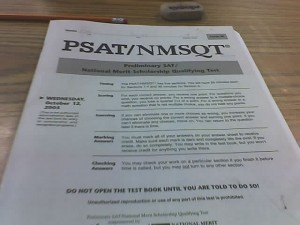 A typical PSAT test booklet. By Sam UL via Creative Commons
