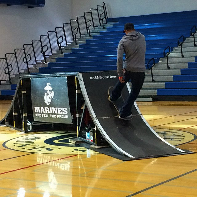 Come to the North Gym at lunch to watch the X-Games! (Photo: E. Lufburrow)