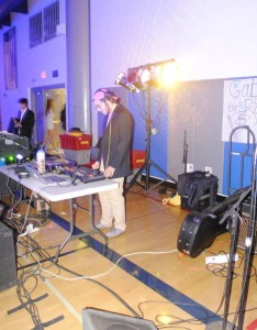 Senior Gabe Leal DJs for the dance on Saturday Dec. 6.