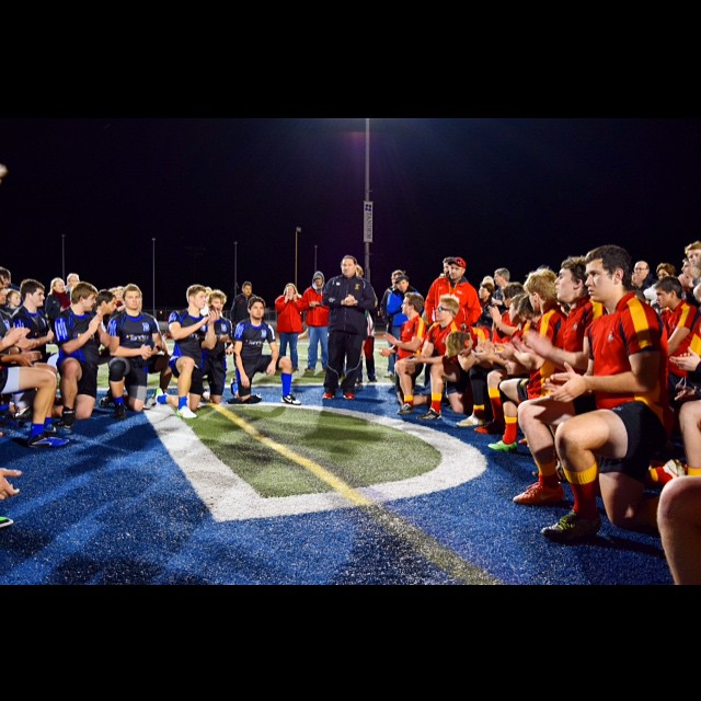 After a tough match, the DHS Varsity Men's Rugby team fell to Jesuit-the 2013 National Champions. (Photo: E. Lufburrow)