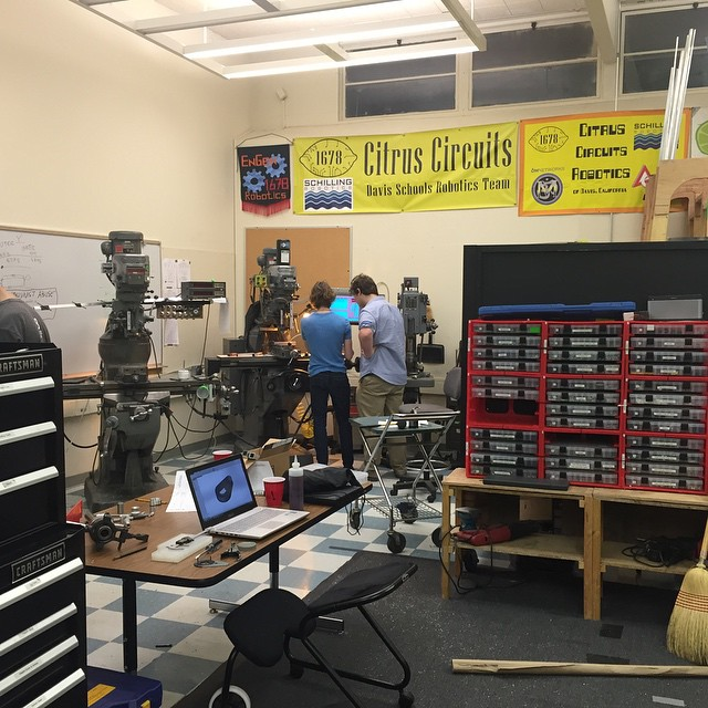 The local robotics team, Citrus Circuits, is hard at work preparing for the spring competition season. (Photo: Z. Hertz)