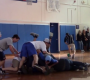 VIDEO: Dodgeball final ends with a dog-pile