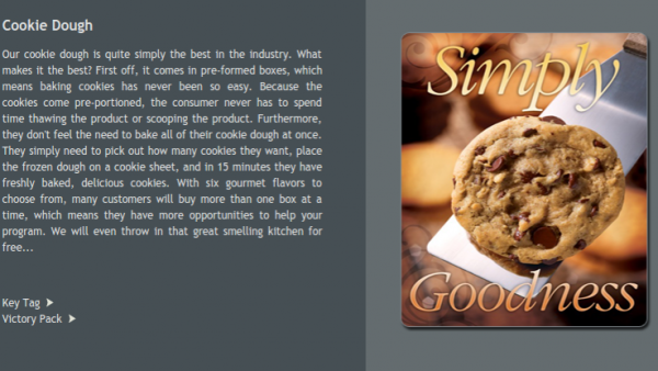 This is the website for Simple Goodness cookies.