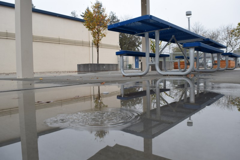 Instead of building a new MPR, the school board approved a shade structure after the old building was torn down.
