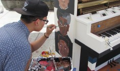 Art students work on new public project