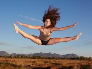 Noriko Smallwood demonstrates a jump. Smallwood hopes to dance at Washington State University. Courtesy photo by Shawn Smallwood.