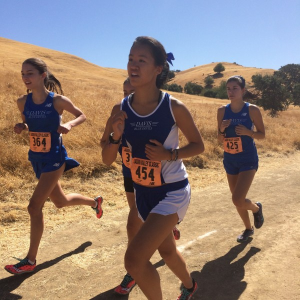 Juniors Arielle Fletter and Esther Wang lead the Davis JV women to a first place victory at the Lagoon Valley Classic on Sept. 5.