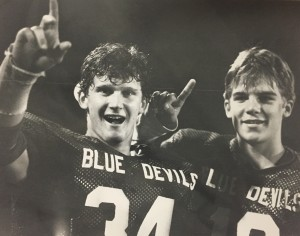 From left to right, Marty Morse and  long-time friend Russ Walter in 1984  during the Blue Devils undefeated JV football campaign.