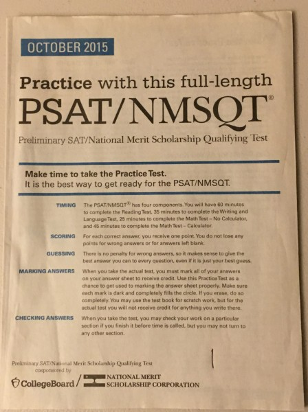 The PSAT practice test prepared students for the Wednesday, Oct. 14 PSAT.