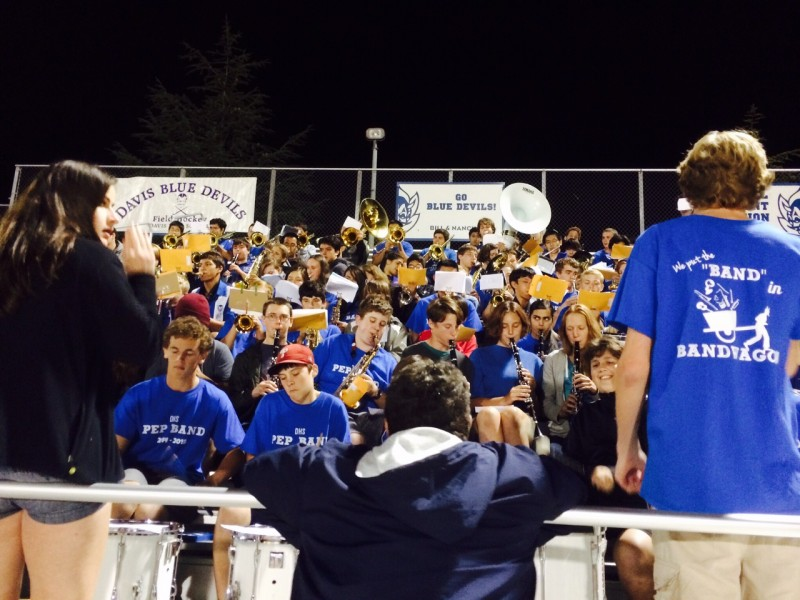 The pep band plays at last year's Homecoming game. (Courtesy photo: M. Wong)