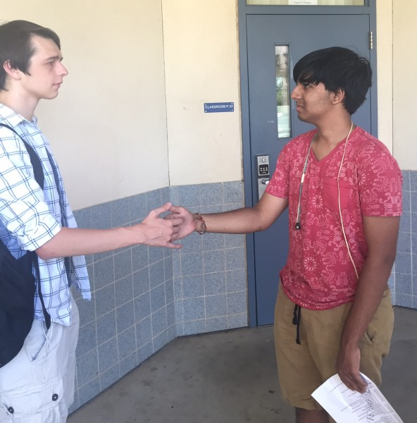 Pandey participates in Speech and Debate, which requires him to use his writing and directing skills.