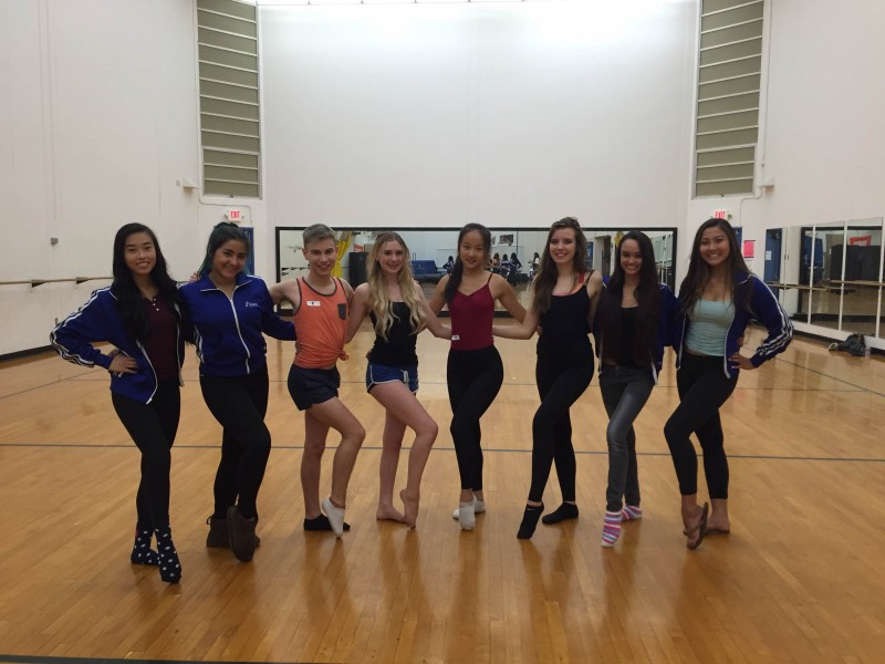 After the Davis High Dance Team winter tryouts on Saturday, Nov. 7, new members are excited to join the team, and current members are excited to have them. From left: Kacey Hsu, Paloma Franco, Skyler Mikalson, Emma Travis, Hellen Wen, Katurah Johansson, Joey Tan and Sally Li. Not pictured: Samantha Belafsky, Alyssa Singh.  Courtesy photo DHS Dance Team.