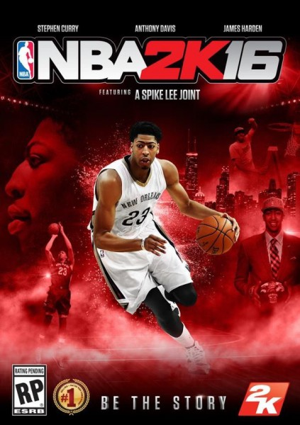 One of four different covers of NBA 2K16, this cover features Anthony Davis.  Courtesy Photo: www.nba2k16game.com