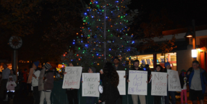 Black Lives Matter protesters disrupt tree lighting ceremony