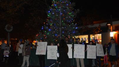 Black Lives Matter protesters disrupt tree lighting ceremony
