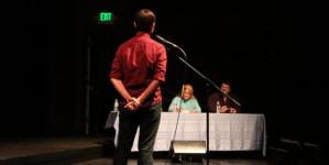 Singers serenade spectators at Davis Idol