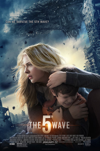 """Main Character Cassie Sullivan (Chloe Grace Moretz) protects her brother Sammy (Zachary Arthur) from the alien invasion of """"The Others"""".  (Credit: Sony Picture's 5th Wave official website) http://www.sonypictures.com/movies/the5thwave/"""