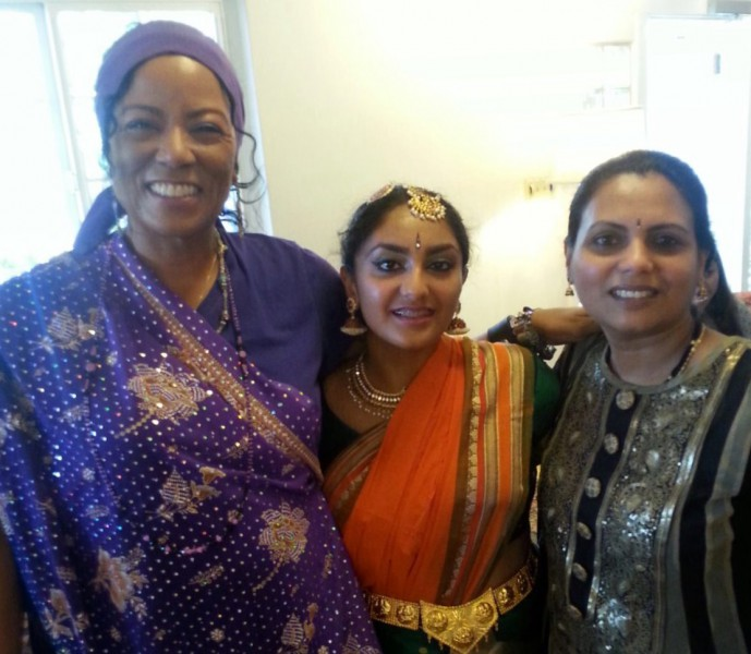 Junior Devayani Varma is pictured with her mom and a family friend. (Courtesy: Devayani Varma)