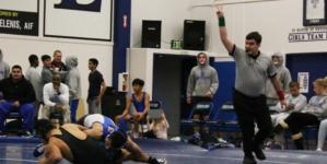 Men's wrestling takes down Sheldon on Senior Night