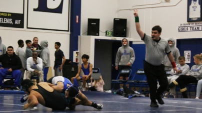 Men's wrestling takes down Sheldon on Senior Night