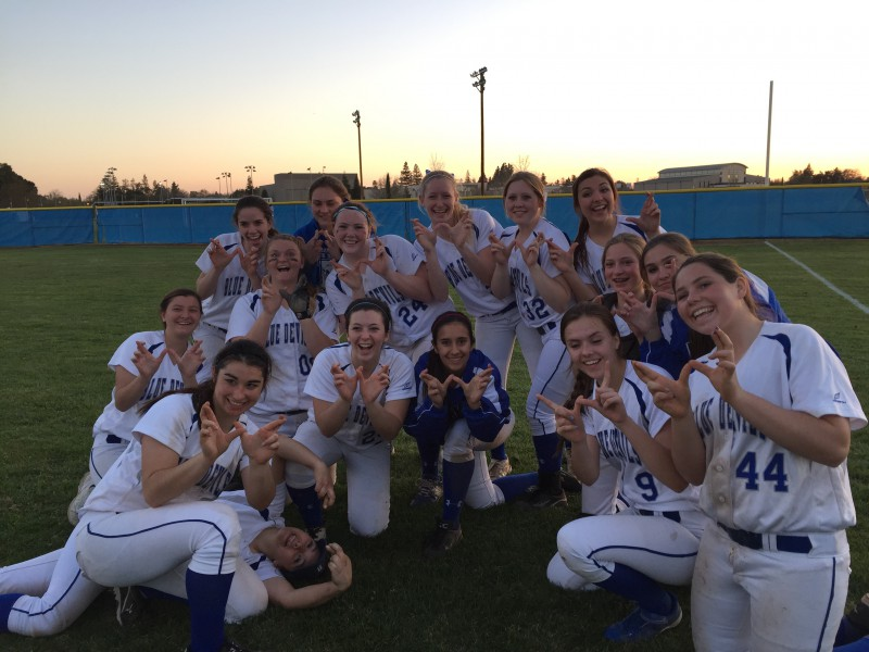 Of the 17 players who were on the varsity softball team last year, only five members continue to play on the team. (Courtesy Photo: A. Guerra)
